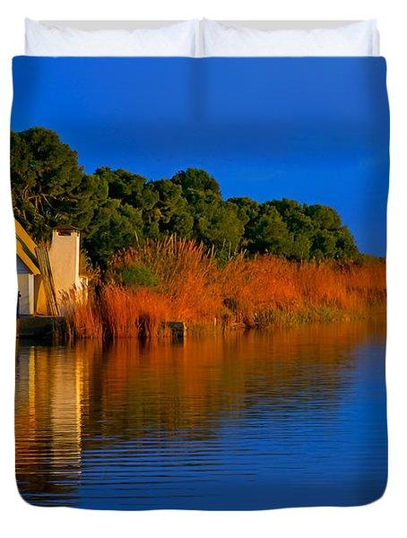 Albufera Blue. Valencia. Spain Duvet Cover