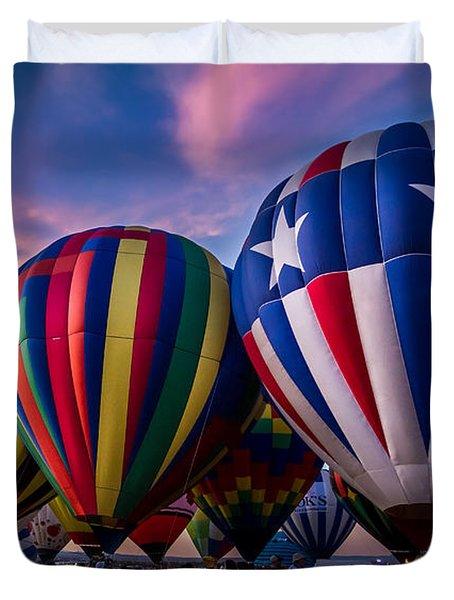 Albuquerque Hot Air Balloon Fiesta Duvet Cover