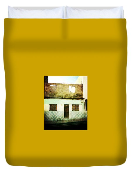 Duvet Cover featuring the photograph Alcala Blue House No1 by Anne Kotan