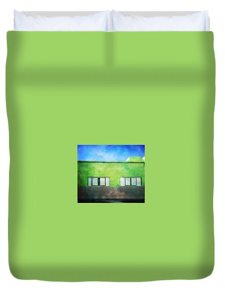 Duvet Cover featuring the photograph Alcala Green House No1 by Anne Kotan