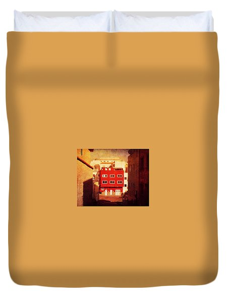 Duvet Cover featuring the photograph Alcala Red House No1 by Anne Kotan