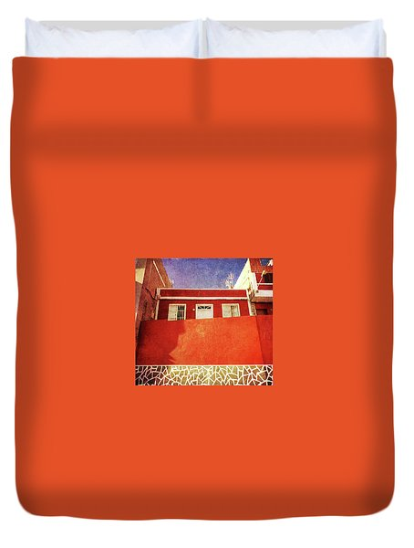 Duvet Cover featuring the photograph Alcala Red House No2 by Anne Kotan