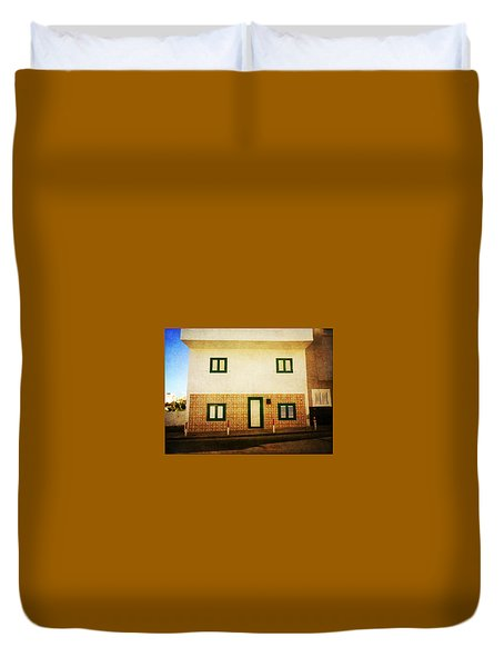 Duvet Cover featuring the photograph Alcala White House No1 by Anne Kotan