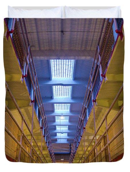 Alcatraz Federal Penitentiary Duvet Cover