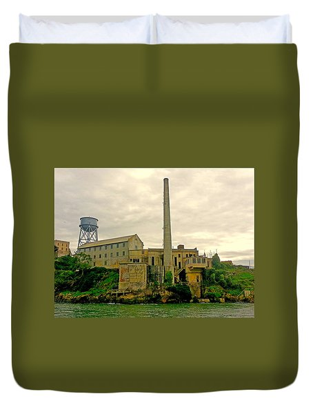 Alcatraz From The West Duvet Cover
