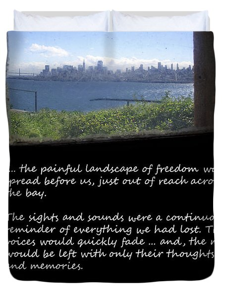 Alcatraz Reality - The Painful Landscape Of Freedom Duvet Cover by Daniel Hagerman