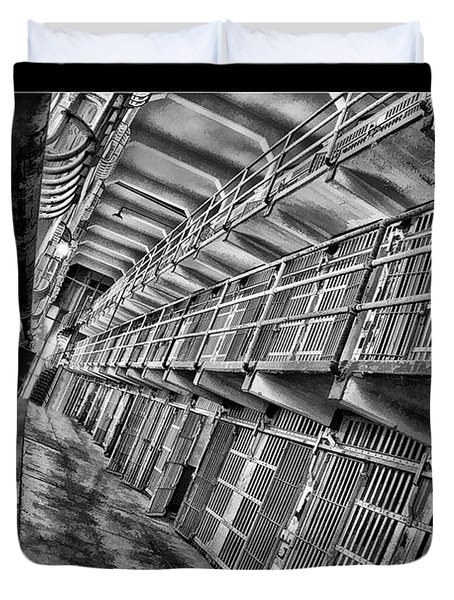 Alcatraz The Cells Duvet Cover