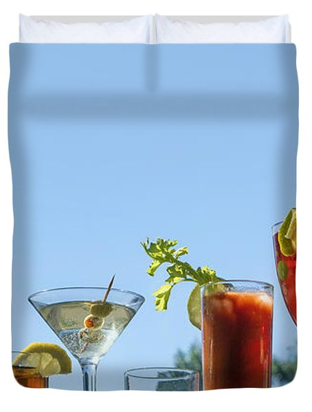 Alcoholic Beverages - Outdoor Bar Duvet Cover