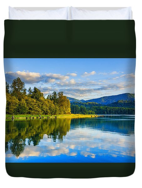 Alder Lake Reflection Duvet Cover