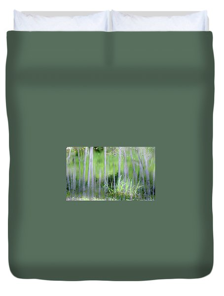 Alder Reflections Duvet Cover by Sheila Ping