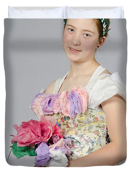Alegra In Paper Floral Dress Duvet Cover
