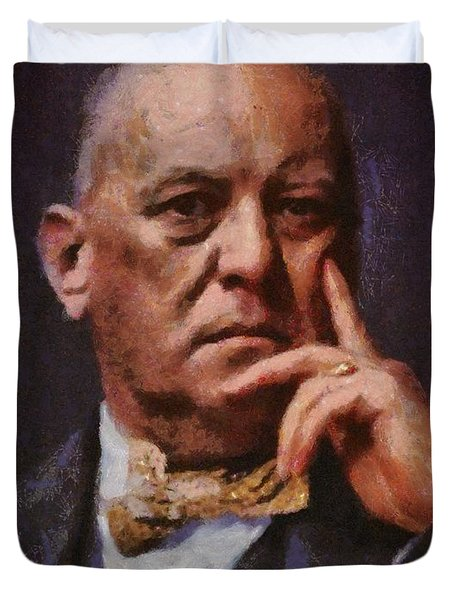 Aleister Crowley, Infamous Occultist Duvet Cover