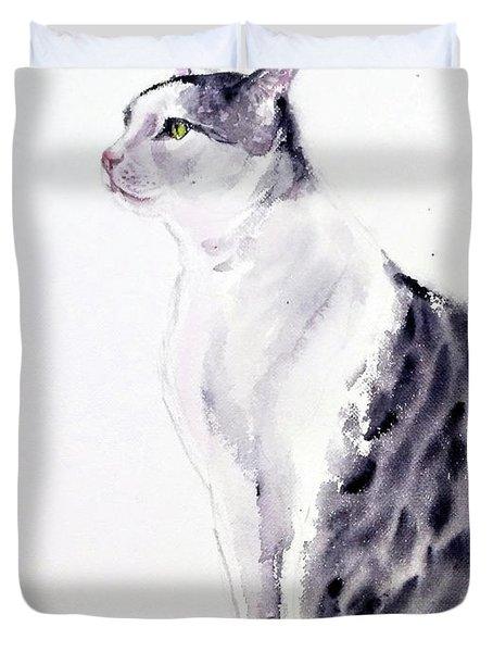 Alert Cat Duvet Cover