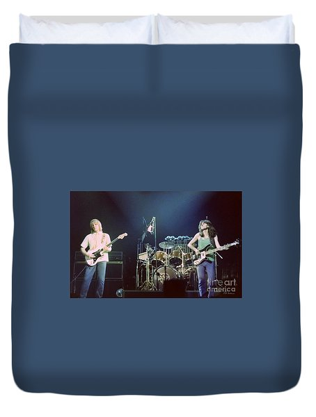 Alex Geddy And Neil Duvet Cover