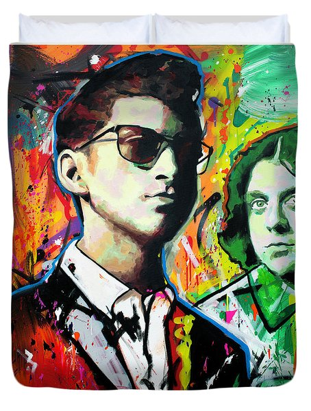 Duvet Cover featuring the painting Alex Turner by Richard Day