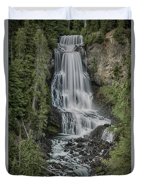 Duvet Cover featuring the photograph Alexander Falls by Stephen Stookey