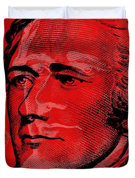 Alexander Hamilton - $10 Bill Duvet Cover