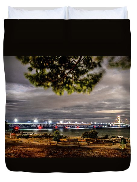Duvet Cover featuring the photograph State Park Entrance by Onyonet  Photo Studios