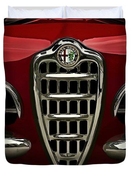 Alfa Red Duvet Cover
