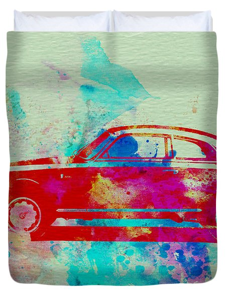 Alfa Romeo  Watercolor 2 Duvet Cover by Naxart Studio