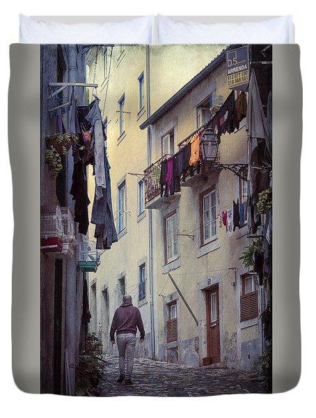 Alfama Life Lisbon Portugal Duvet Cover