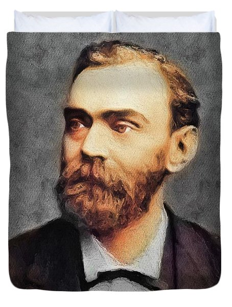 Alfred Nobel, Famous Scientist Duvet Cover