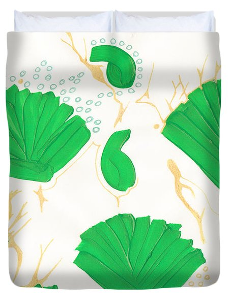 Algae Blooms Duvet Cover by Mary Mikawoz