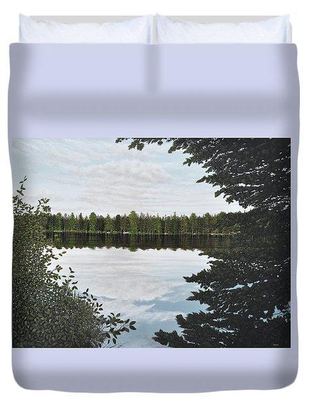 Algonquin Park Duvet Cover by Kenneth M  Kirsch