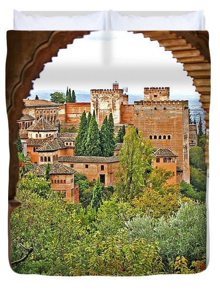 Alhambra - Granada, Spain Duvet Cover