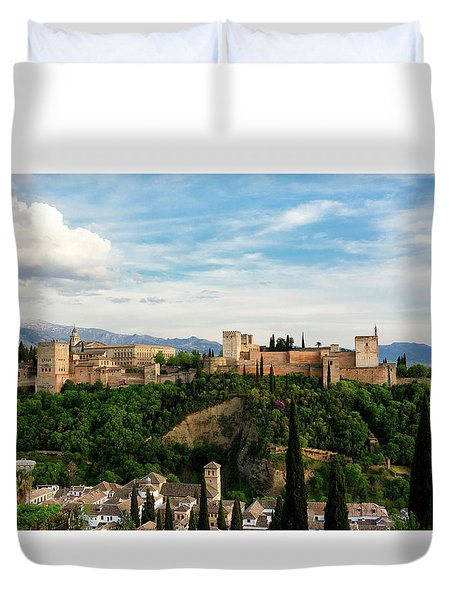 Alhambra In The Evening Duvet Cover by Marion McCristall