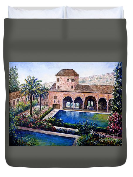 Alhambra Spain Duvet Cover