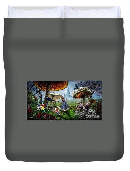 Ali In Wonderland Duvet Cover