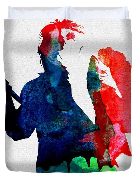 Alice Watercolor Duvet Cover