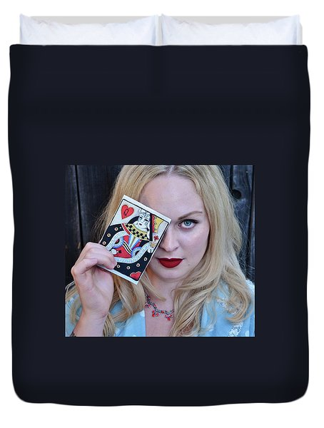 Alice Wins The Queen Of Hearts Duvet Cover