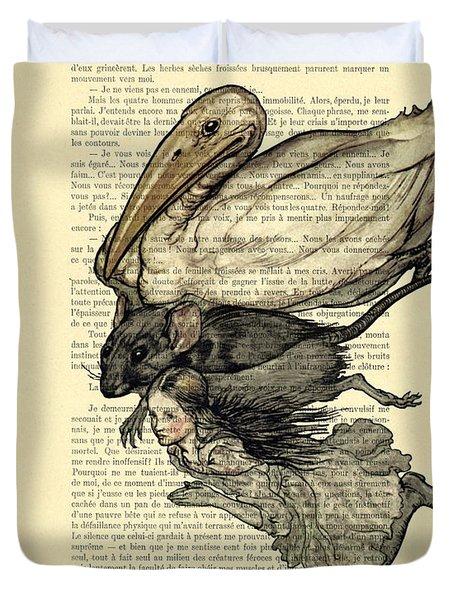 Alice's Adventures In Wonderland The Pool Of Tears Duvet Cover