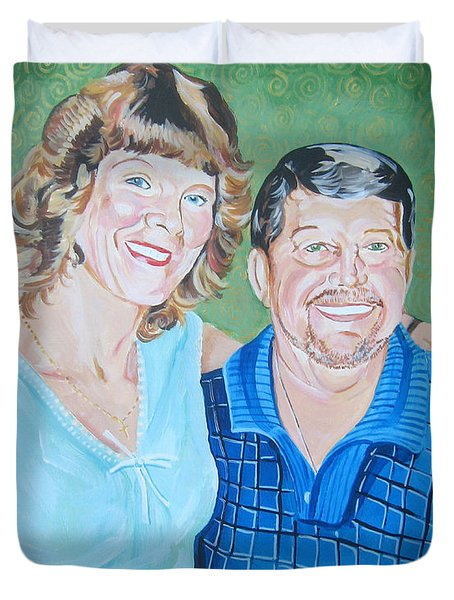 Alicia And Lee Duvet Cover by John Keaton