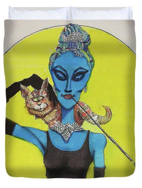 Alien At Tiffany's Duvet Cover