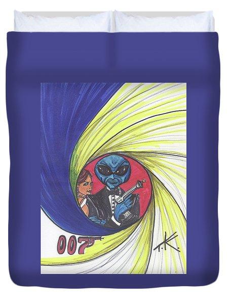 alien Bond Duvet Cover