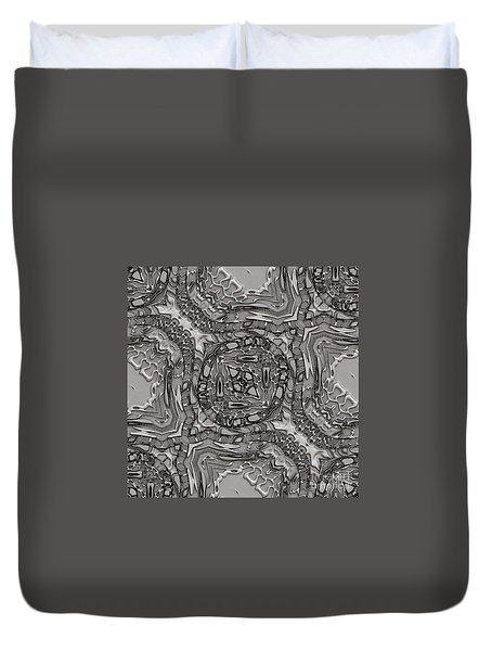 Alien Building Materials Duvet Cover