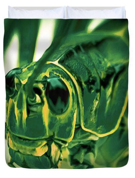 Alien Duvet Cover by DigiArt Diaries by Vicky B Fuller
