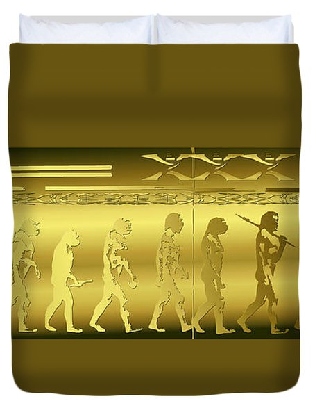 Alien Evolution Duvet Cover