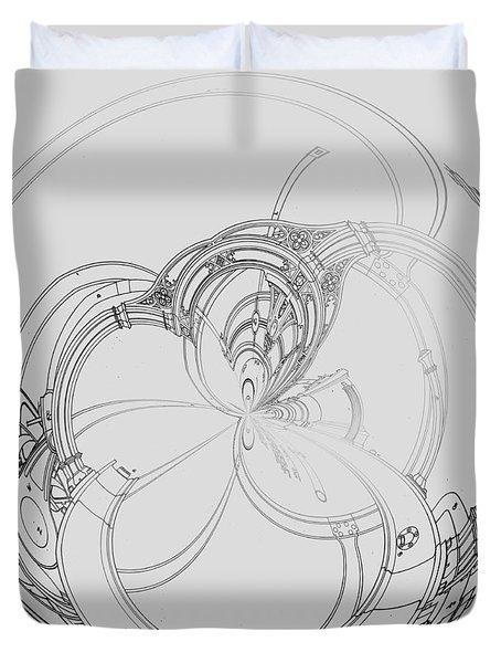 Alien Flywheel Duvet Cover