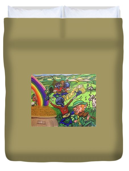 Alien Go Bragh Duvet Cover