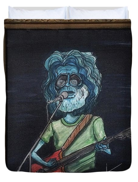 Alien Jerry Garcia Duvet Cover