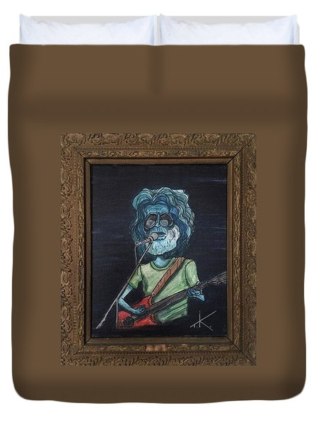 Alien Jerry Garcia Duvet Cover