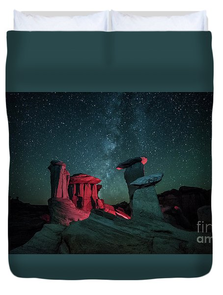 Duvet Cover featuring the photograph Alien Landscape by Brian Spencer