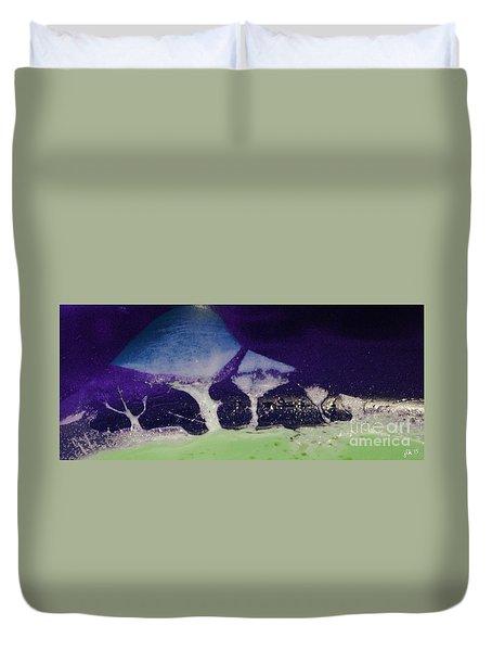 Alien Landscape Duvet Cover by Lori Kingston