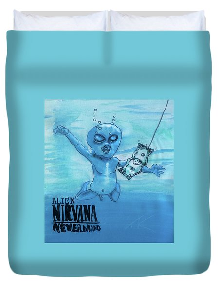 Alien Nevermind Duvet Cover