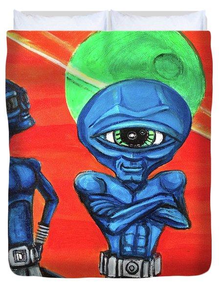 Alien Posse Duvet Cover