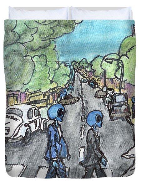 Alien Road Duvet Cover
